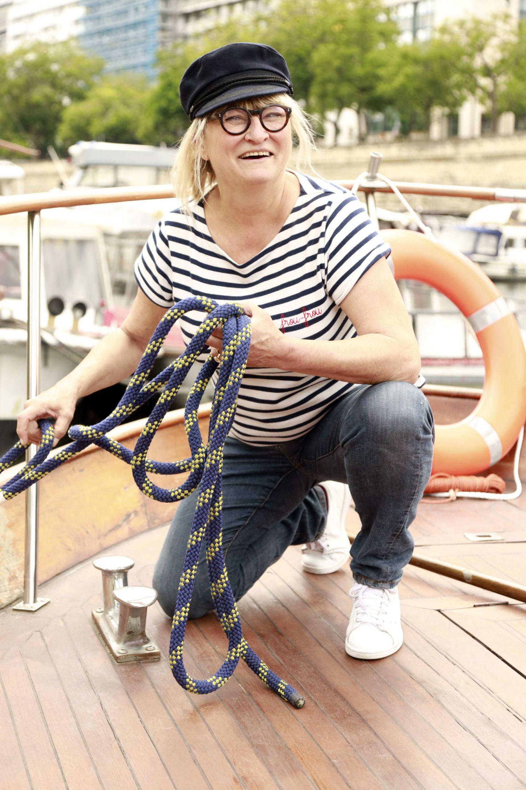 Christine Bravo amarrage de bateau.