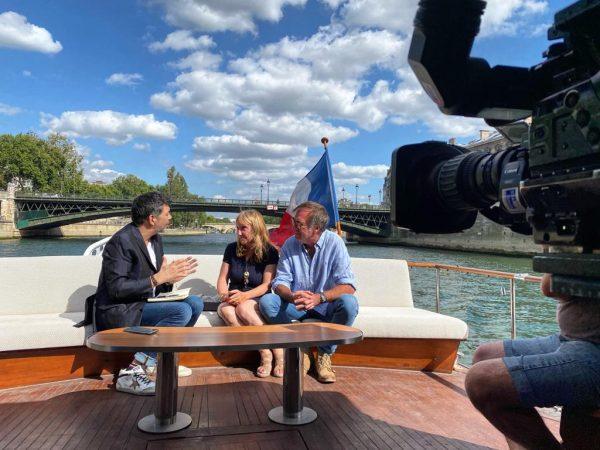 Partage de Stéphane Plaza interview sur la Seine.